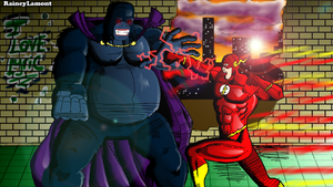 Flash vs G.Grodd final by Raineylamont