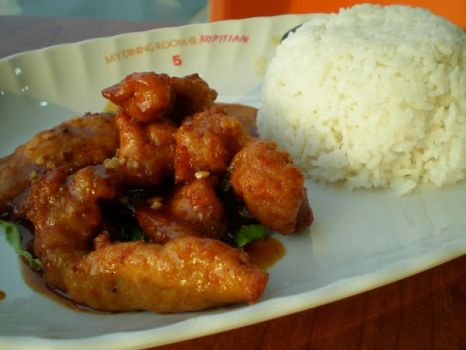 Sweet and Sour Pork Rice by irenechew