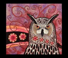 Eagle Owl as Totem by Ravenari