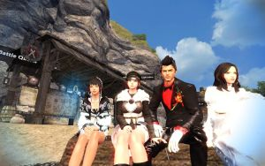 Vindictus Family Vacation and with sister by RoninMoose