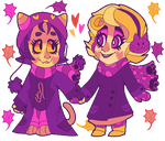 Purple Autumn - SpiritDay Roxy and Nepeta Pixel by vomitcunt