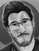 Markiplier BW by CreativeCarrah