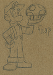 Luigi 1up by anotherblazehedgehog