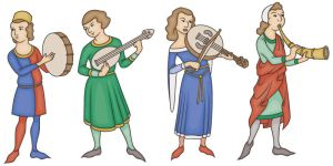 Medieval Musicians by JohnRaptor
