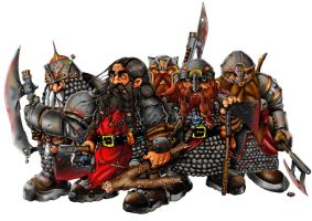 Band of dwarfs by themico