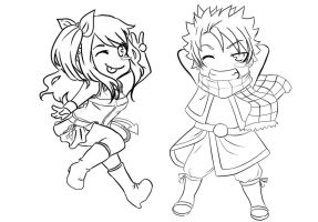 Natsu and Lucy.:Chibi Com.:. by Art-of-Kawaii
