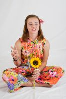 Flower Power 13 - PEACE OUT by Della-Stock