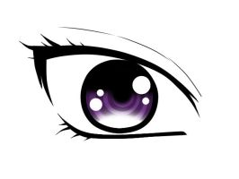 Anime Eye Woman by SawaHoshi