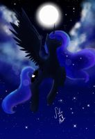 I am the night by Varshacoro