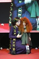 Brave Elinor and little Merida by Aokiii
