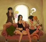 Luffy's harem xD by waklo99
