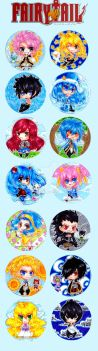 Fairy Tail straps by Nekkohime