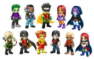 Teen Titans and Young Justice in Gaia style by SithVampireMaster27