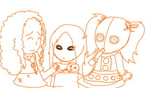 living dead dolls picnic XD by deathsbell
