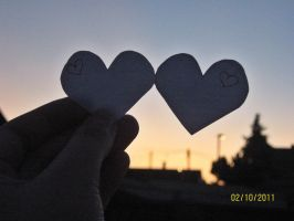 Love Hearts In The Sunset by MrsPhotoshopkilla