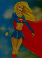 supergirl work in progress by dezz1977