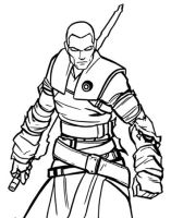 starkiller coloring page by Firefury299