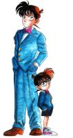 Kudo Shinichi VS Edogawa Conan by Goldman-Karee