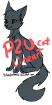 P2U CAT LINEART (READ BELOW!) by SilverFeather-Adopts