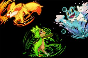 oh god the starters again by Dragonpunk15