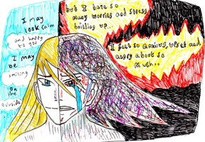 Anxiety/Hiding of emotions by Fran48