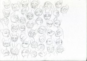 Facial expressions studies by Ihmislehma