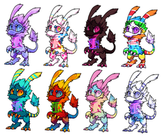 (CLOSED) Baby Zarziol Adopts 8 by MGMaguire