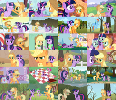 TwiJack/AppleSparkle Collage by The-Queen-Of-Cookies