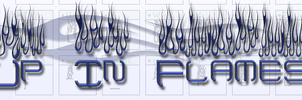 Up In Flames Too font by jbensch
