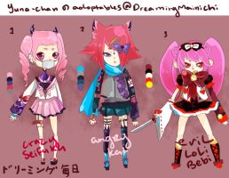 Evil Adoptables :600pts by dreamingmainichi