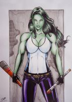 She Hulk by sidneydesenhus