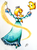 Rosalina and Luma by Ian-the-Hedgehog