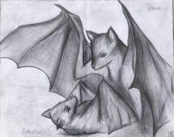 Bats Claude and Sebby by DiabolicLily