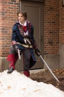 Arno in the 'Captain Morgan' pose by TimeyWimey-007