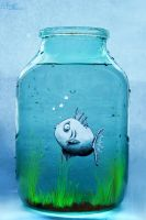 fish in jar by AnitkArt