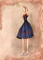 1940s 1950s Costume Inspired Fashion sailor look by BasakTinli