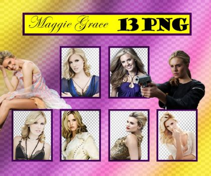 Maggie Grace PNG Pack by sarii016