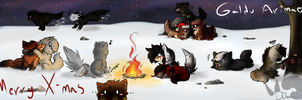 Campfire Days: Happy Holidays GA peeps. by Arkrylic