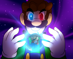 Trapped mario by BaconBloodFire