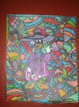 Drakwing Duck Design Artwork Colorful Drawing by NWeezyBlueStars23