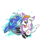 One Digimon One Vegha ( Gomamon And Levyathan ) by LucasMolla