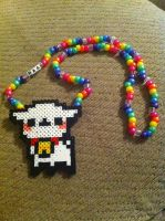 Rainbow Sheep Perler Necklace by WhoopsIDrew