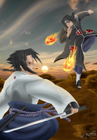 Sasuke vs Itachi by aca985