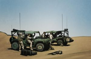 Marines in the Desert by aaronprovost