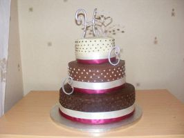 Chocolate Wedding Cake by SquishyPurpleCupcake