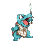 COMM - Totodile x Shadow of the Colossus by seto