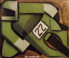 motorcycle racing painting by TOMMERVIK