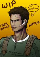 WIP - Chris Redfield by karulox