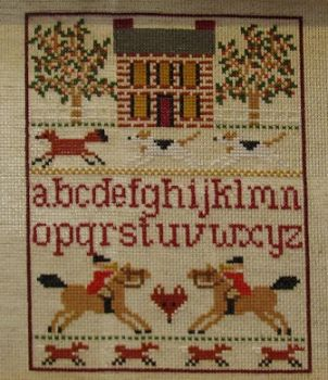 Fox Hunt Sampler Finished by DawnMLC