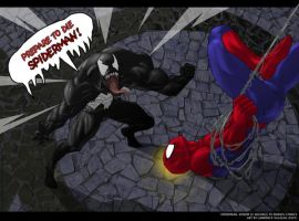 Venom vs Spiderman by CraggyRecess
